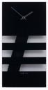 NEXTIME Wandklok Bold Stripes glas zwart 19 x 38 cm