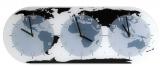 NEXTIME Wandklok Mondial glas 50 x 18,6 x 3,6 cm